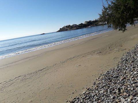Η παραλία του Μακρύ Γιαλού το καλοκαίρι.