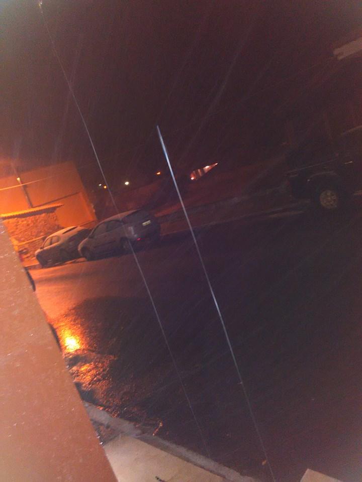 Λήψη από τη χιονόπτωση στο Γερακάρι