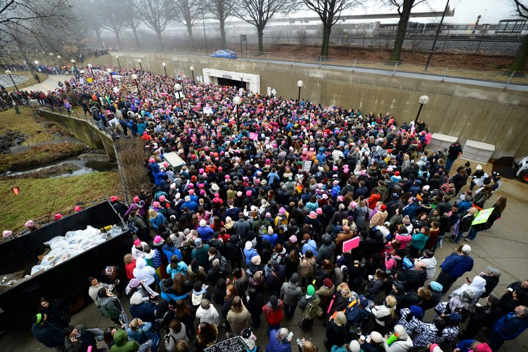 Thousands Attend Women's March On Maryland