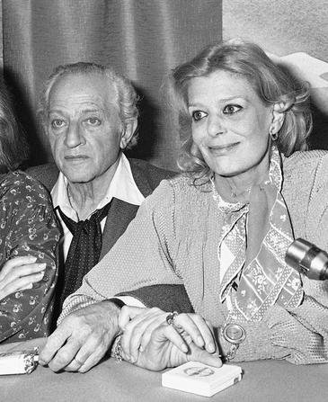 Actress Melina Mercouri  and her husband,director Jules Dassin talk to the media at the 31st International Film Festival in Cannes, France in 1978. Dassin died late Monday, March 31, 2008, at an Athens hospital, officials said. He was 96.(AP Photo/Jean Jacques Levy)
