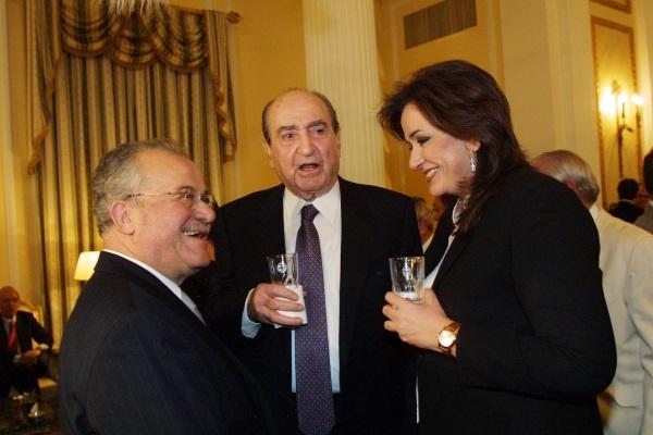 Ο Γιάννης Πευκιανάκης με τον Κωνσταντίνο Μητσοτάκη και την Ντόρα Μπακογιάννη / Φωτογραφία: Eurokinissi