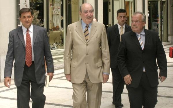 Ο Γιάννης Πευκιανάκης με τον Κωνσταντίνο Μητσοτάκη και τον Μανούσο Γρυλλάκη / Φωτογραφία: Eurokinissi