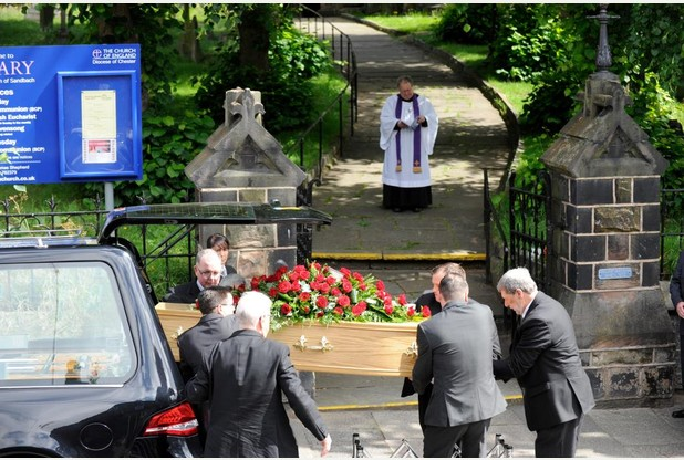 15-07-2017Sandbach, Cheshire.Funeral of Steven Cook at St.Mary's Church.