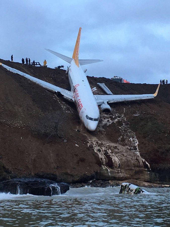 Passenger plane skids off runway at Trabzon airport