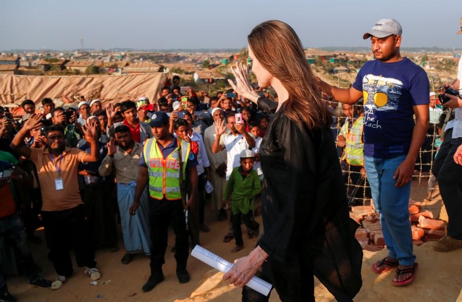 US actress Angelina Jolie visits Rohingya camp in Bangladesh