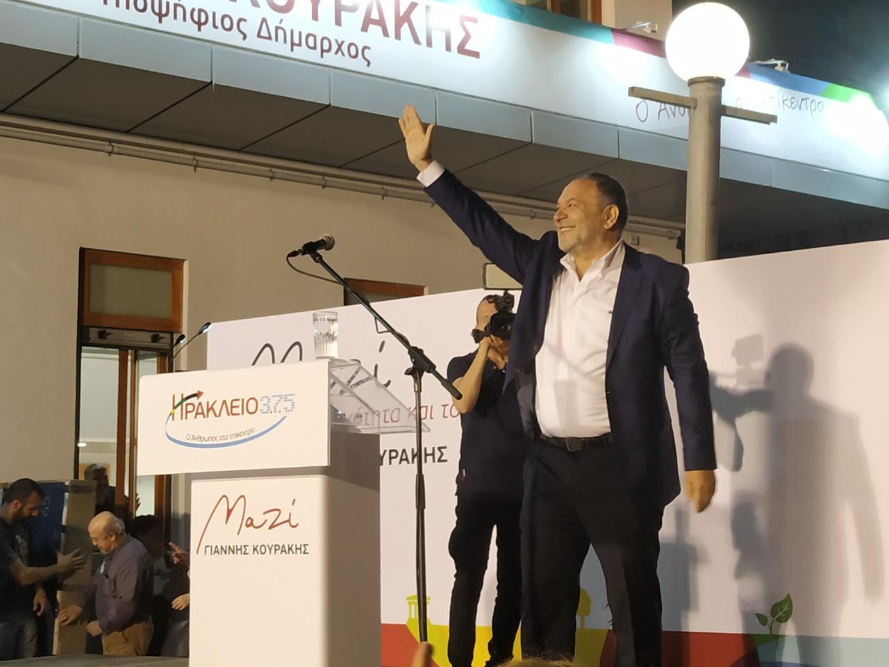 Προεκλογική συγκέντρωση του Γιάννη Κουράκη.