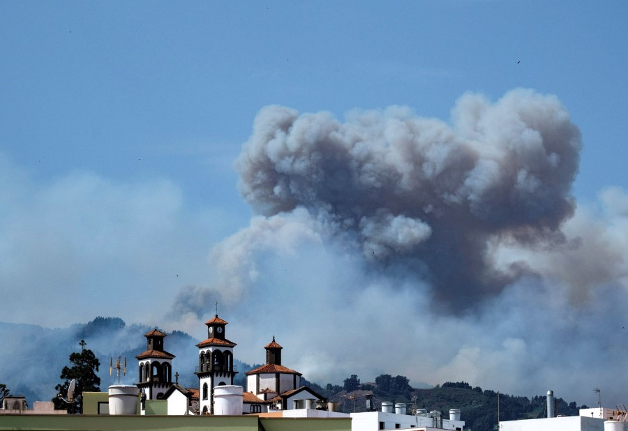 2,000 people evacuated due to forest fire in Canary Islands