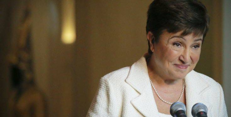 Kristalina Georgieva, European Union budget chief, listens during a press conference after addressing a meeting concerning her candidacy for the post of the Secretary-General, Monday, Oct. 3, 2016 at U.N. headquarters. (AP Photo/Bebeto Matthews)