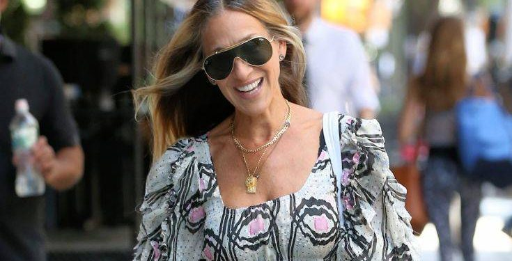 Actress Sarah Jessica Parker, Wearing A Maxi Dress And Carrying A Copy Of ?Lanny? From Her Imprint Hogarth, Arrives At The Greenwich Hotel In New York City