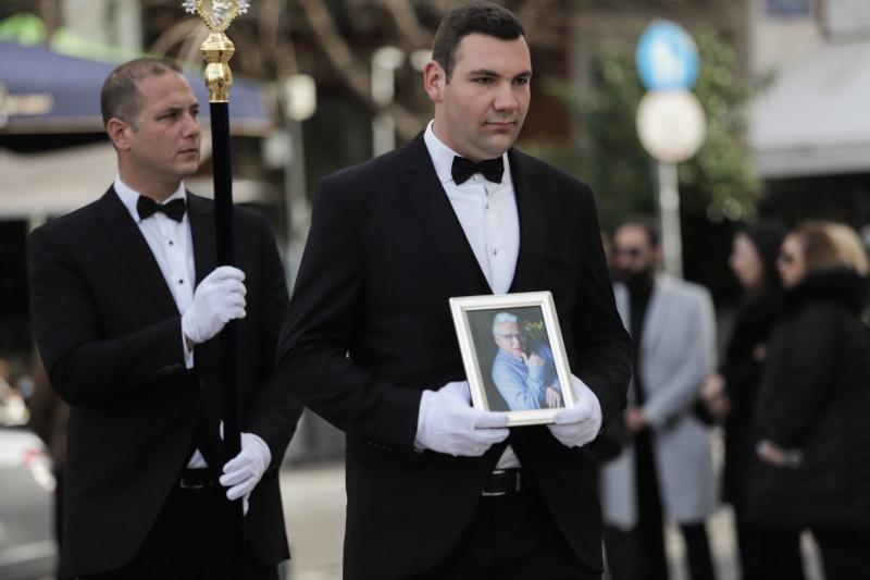 Κηδεία του ηθοποιού Κώστασ Βουτσά στην Αθήνα την Παρασκευή 28 Φεβρουαρίου 2020. (EUROKINISSI/ΓΙΑΝΝΗΣ ΠΑΝΑΓΟΠΟΥΛΟΣ)