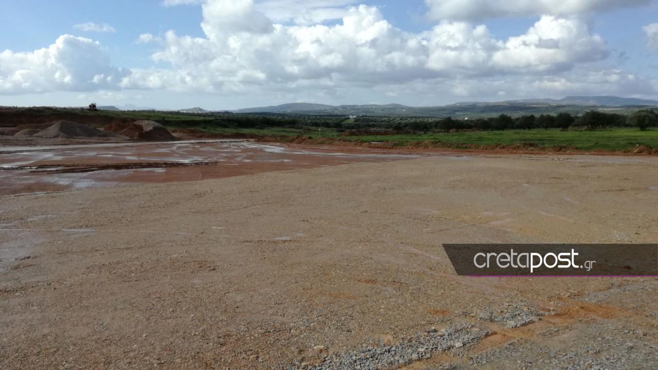 Το εργοτάξιο που θα κατασκευαστεί το νέο αεροδρόμιο.