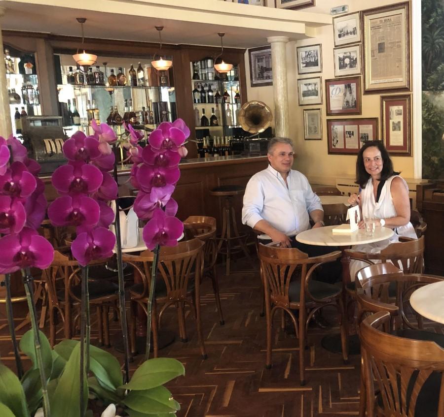 Η Άννα Διαμαντοπούλου με τον Βασίλη Σταθάκη